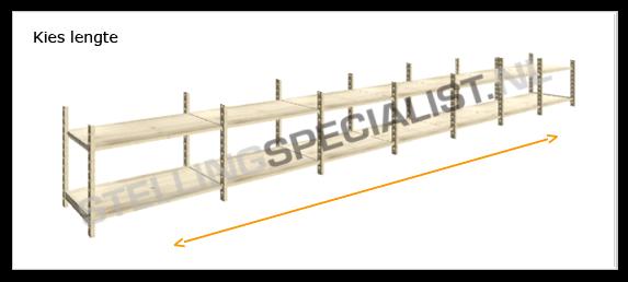 Stelling 60 Cm Diep.Houten Stellingkast Easyrack Configureren Grootvakstellingspecialist